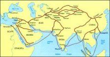 Mapa ruta de la Seda Asia