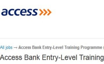 access bank entry level training programme