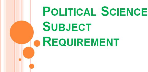 political science subject requirement