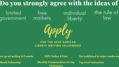 Photo of African Liberty Writing Fellowship Program 2020
