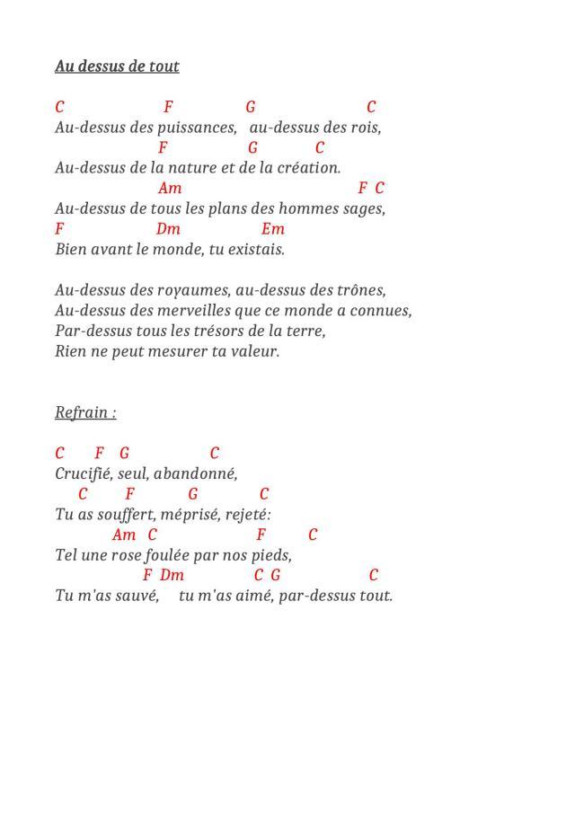 Au Dessus De Tout : dessus, Above, Dessus, ACCORDS, FACILES