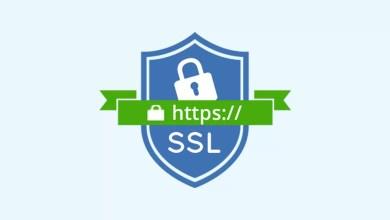 تركيب شهادة SSL