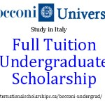 Undergraduate Study in Italy with a Bocconi Scholarship for International Students