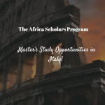 Africa Scholars Program (Universitá Cattolica del Sacro Cuore)