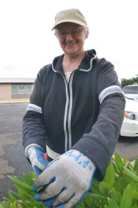 ServeINC 2011, a volunteer doing some landscaping.
