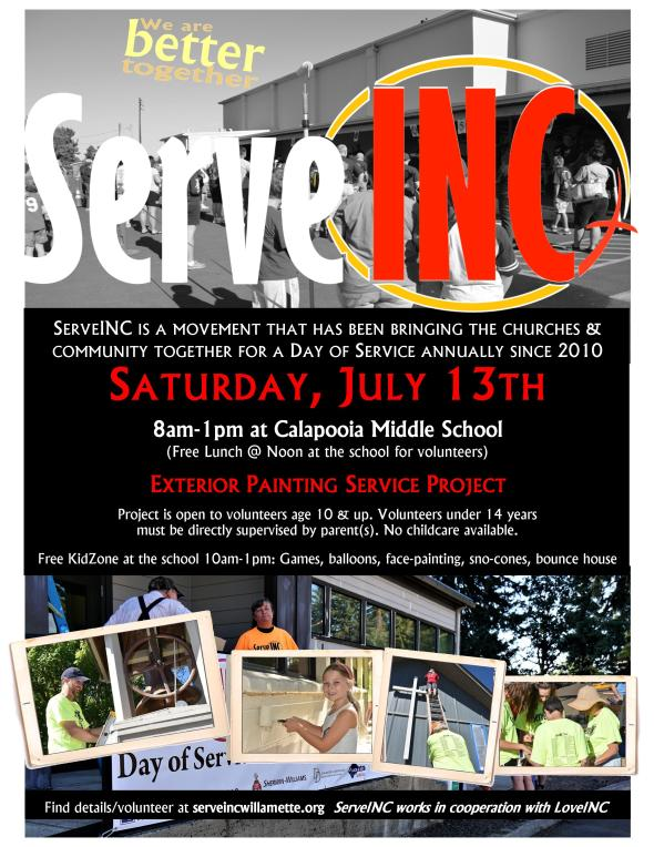 ServeInc 2019 Albany flyer