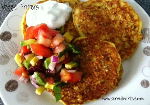 Veggie Fritters Recipe with Salsa