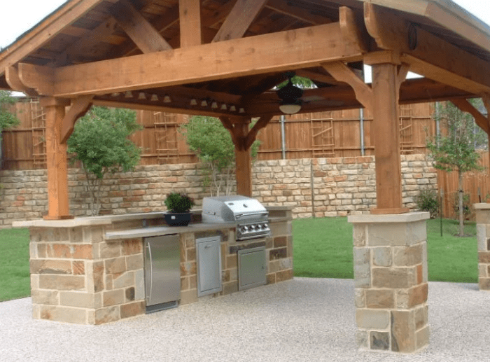 Rustic Outdoor Kitchen Design by pinterest