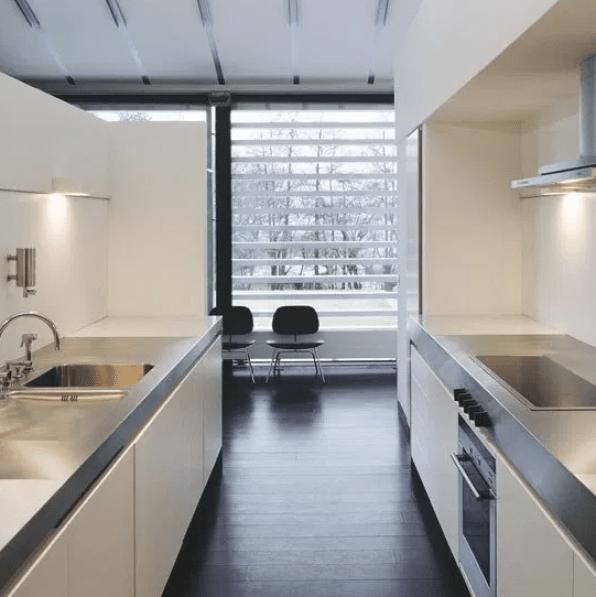 Minimal Galley Kitchen by pinterest