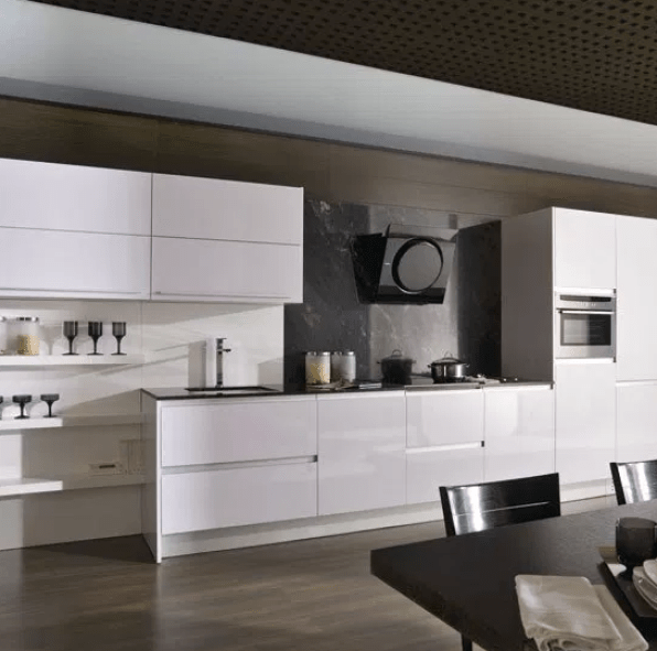 Gloss Galley Kitchen by pinterest