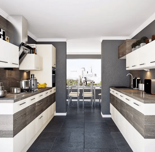 Contemporary Colour Block Galley Kitchens by pinterest