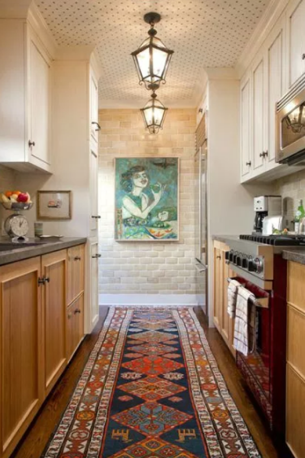 A Galley Kitchen Infused With Character via pinterest
