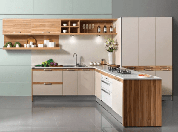 L-Shape Kitchen Cabinet Ideas