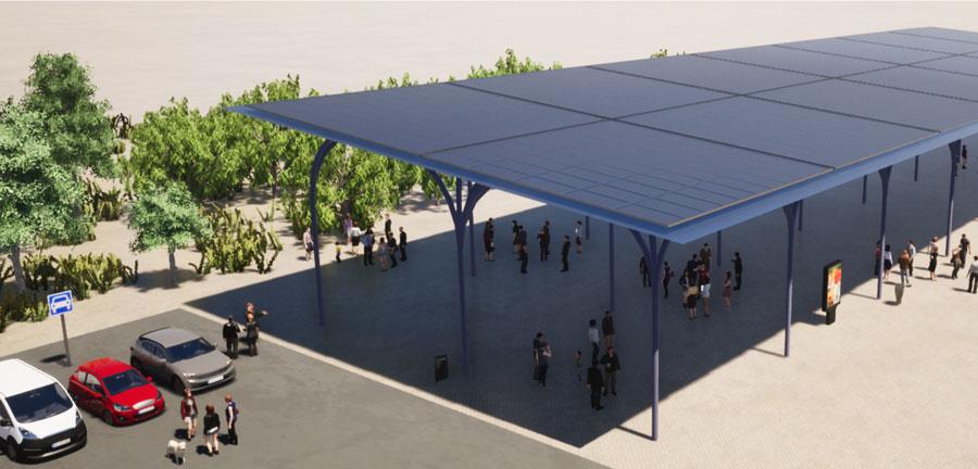 Pégola fotovoltaica AGORA