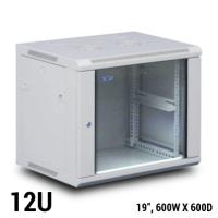 TOTEN 12U Wall Mount Rack / Cabinet ,(W600xD600mm)