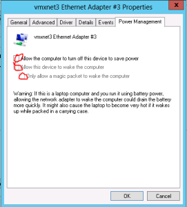 Power Management settings