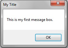 OK - Cancel message box