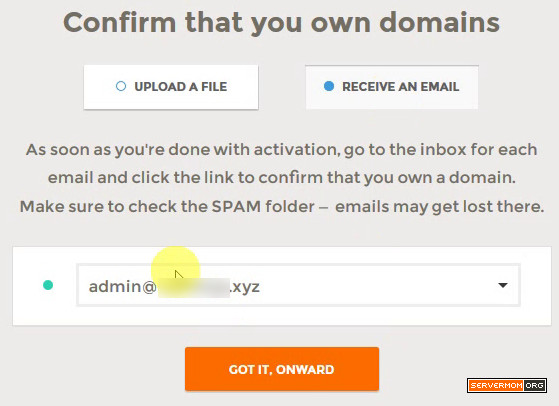 confirm domain owwnership