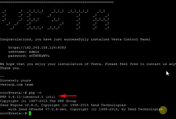 check php version ubuntu