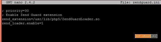 zendguard ini file