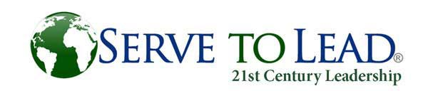 serve to lead 21st century leadership logo with green and white earth via servetolead.com