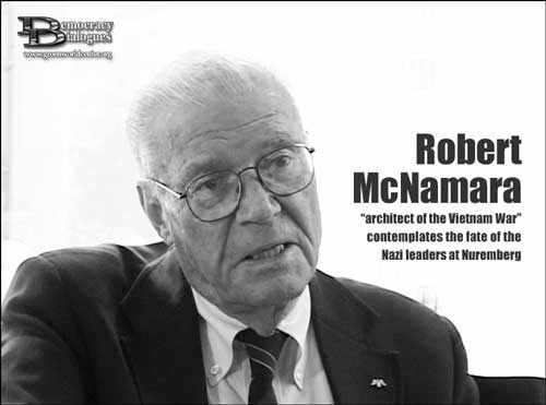 Robert McNamara speaking Fog of War at www.servetolead.org