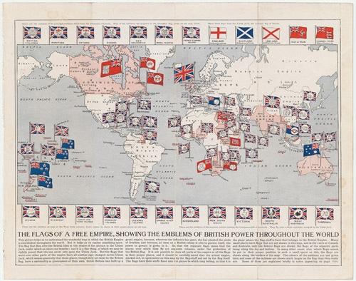 British Empire world map flags 1910 at www.servetolead.org