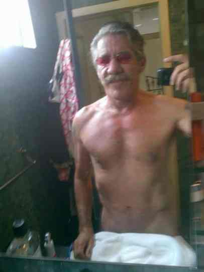 Geraldo Rivera selfie nude towel at www.servetolead.org