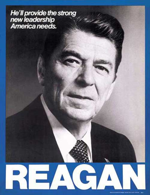 Reagan poster strong leadership america needs 1980 at www.servetolead.org