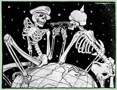 World War 1 skeletons toasting death world at www.servetolead.org