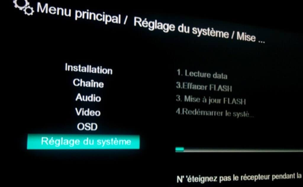Mise à jour de VISION CLEVER 4 par USB etape 7