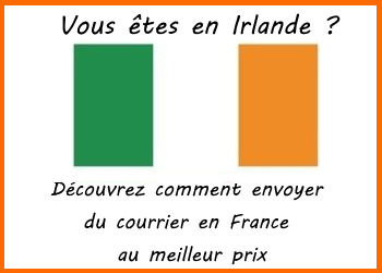 envoi de courrier irlande france