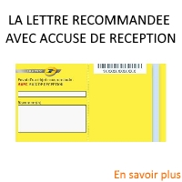 lettre recommandée avec accusé de reception