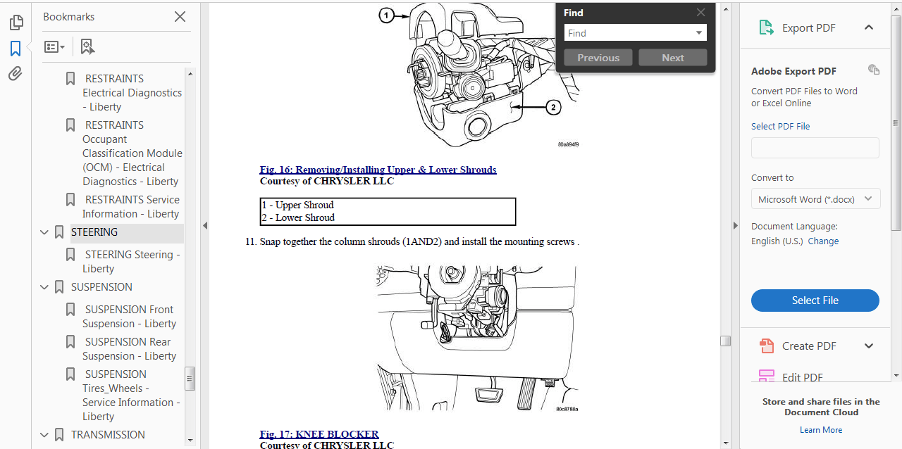 OFFICIAL WORKSHOP Service Repair MANUAL for JEEP LIBERTY