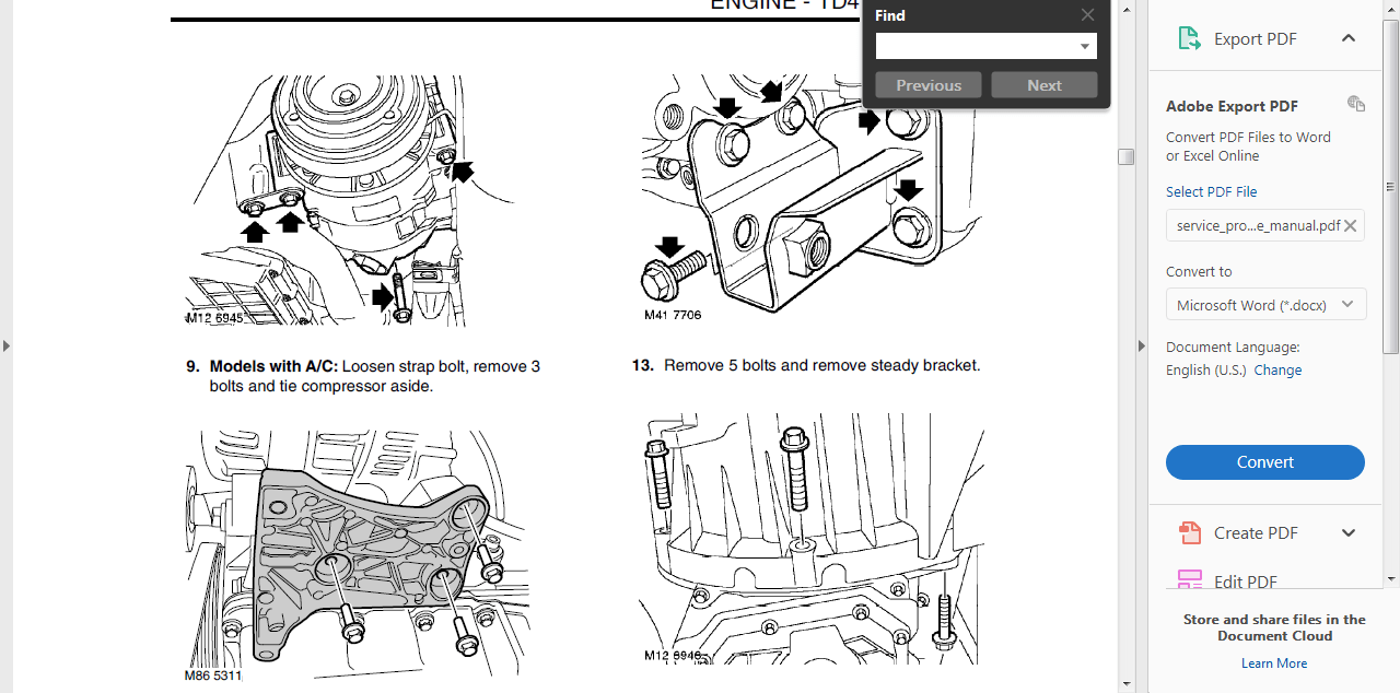 # OFFICIAL WORKSHOP Repair MANUAL for LAND ROVER