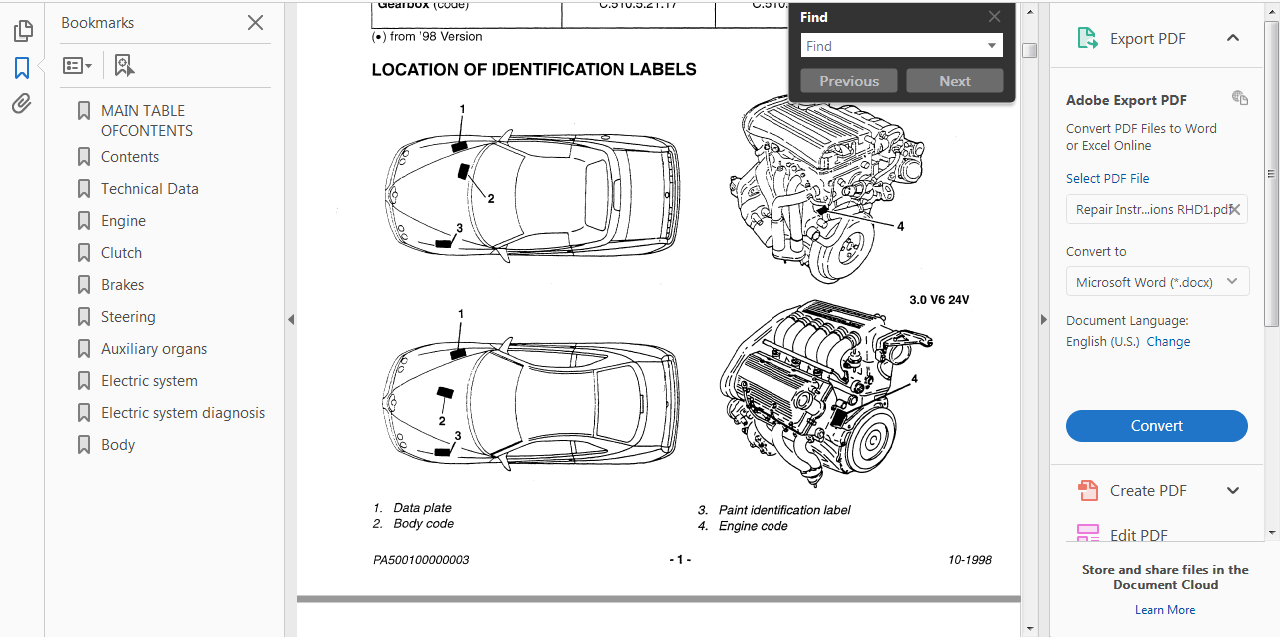 # OFFICIAL WORKSHOP Repair MANUAL for ALFA ROMEO SPIDER