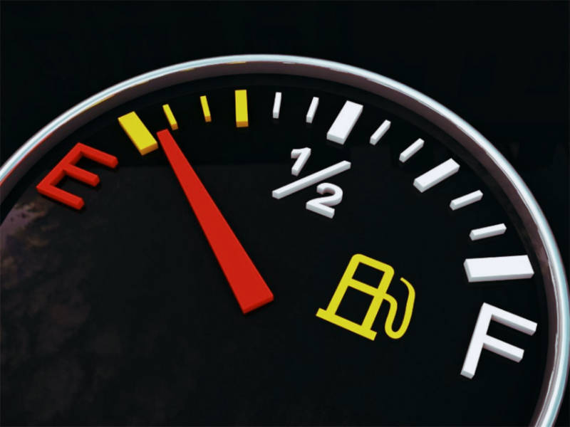 Gasoline level indicator