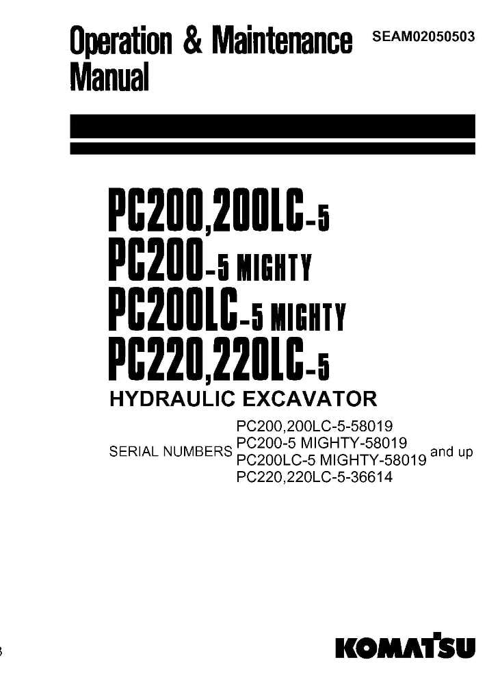 Komatsu PC200-5/ PC200LC-5/ PC220-5/ PC220LC-5 Hydraulic