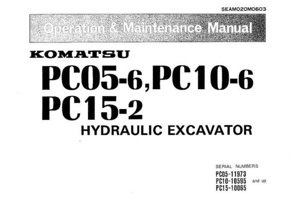 Komatsu PC05-6/ PC10-6/ PC15-2 Hydraulic Excavator