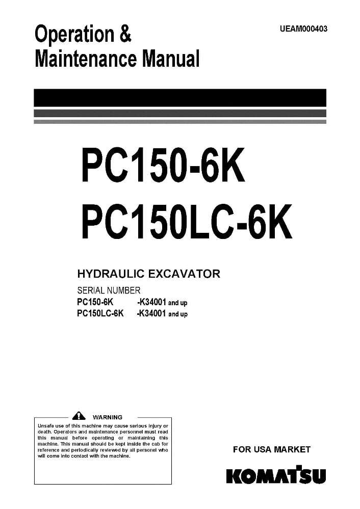 Komatsu PC150-6K/ PC150LC-6K Hydraulic Excavator Operation