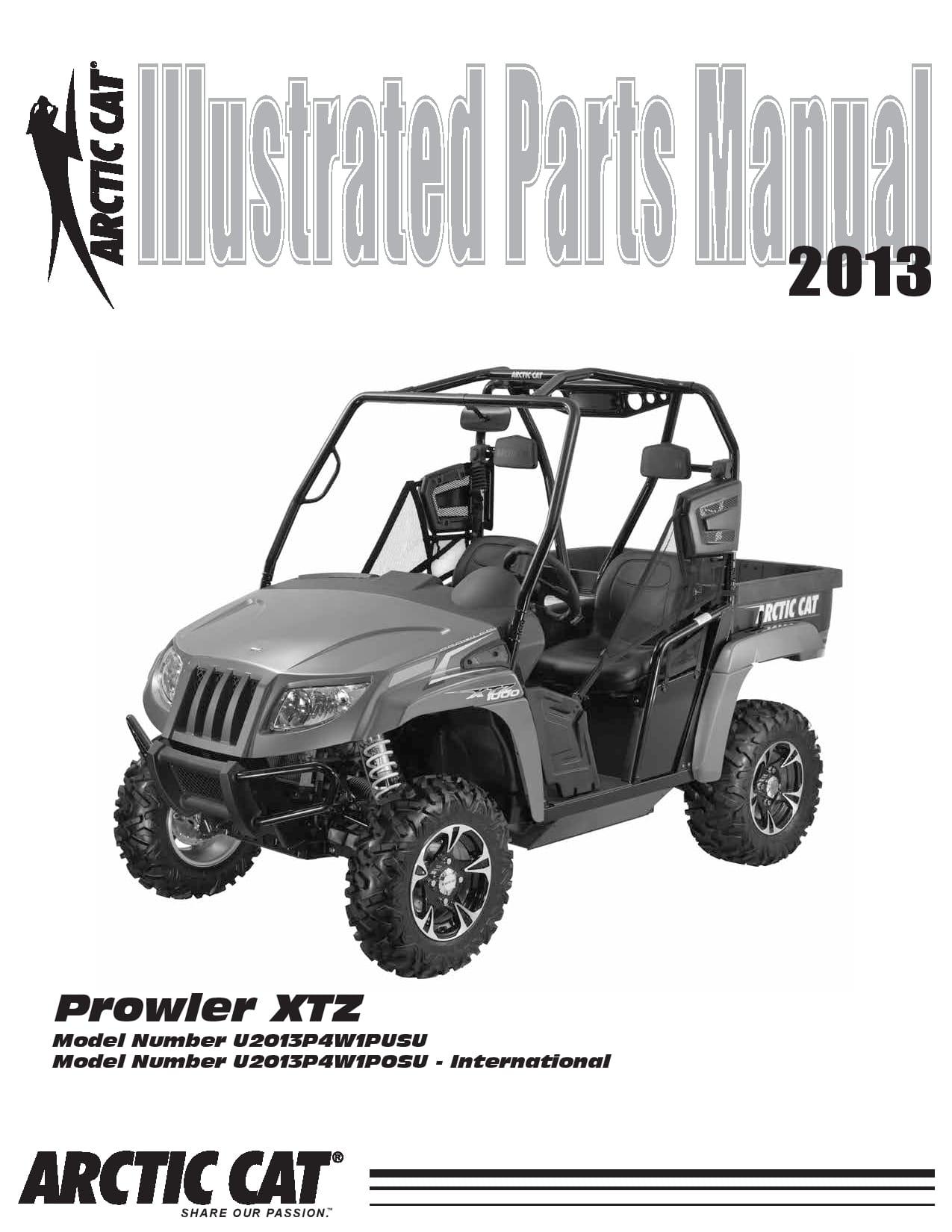 ARCTIC CAT 2013 Prowler XTZ part manual PDF Download