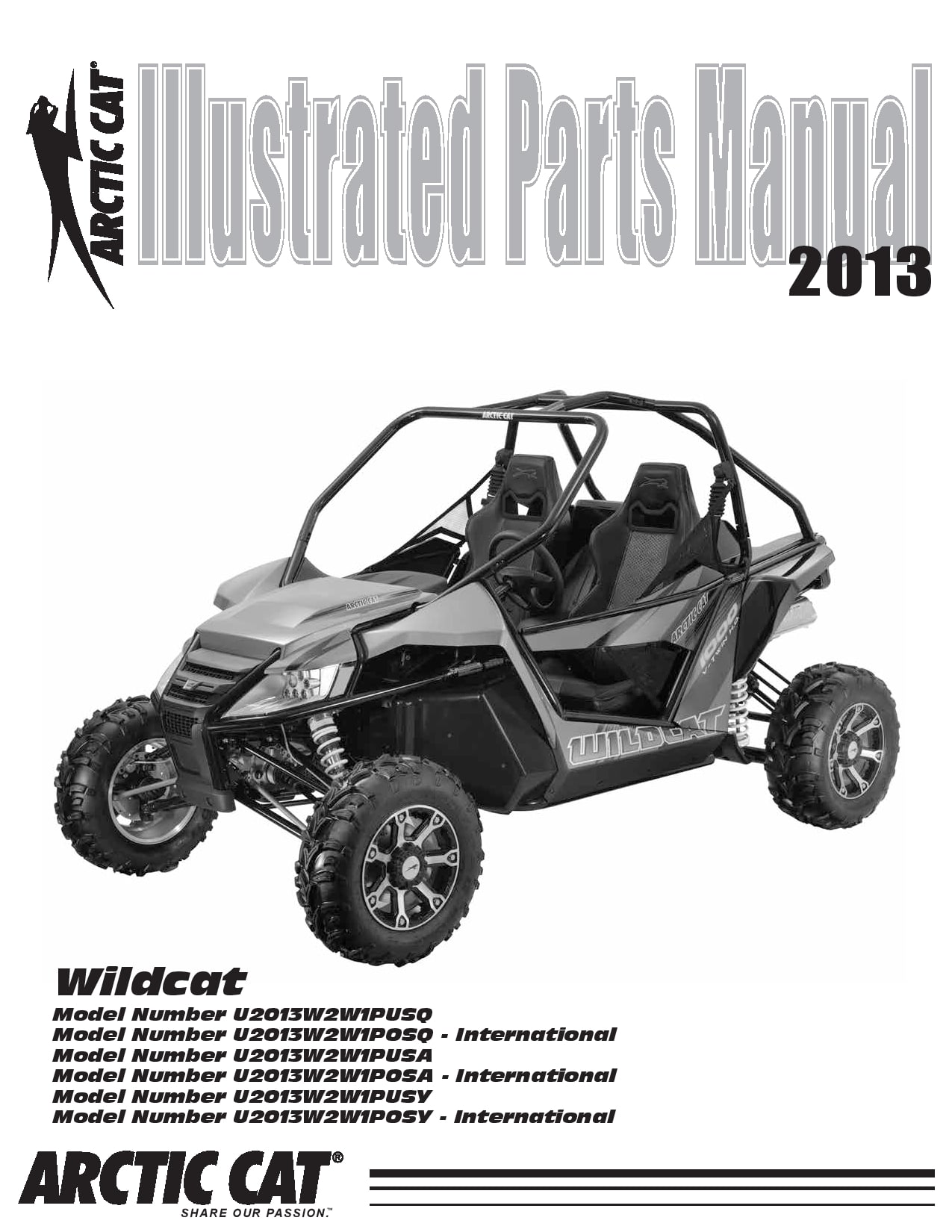 ARCTIC CAT 2013 Wildcat NH part manual PDF Download