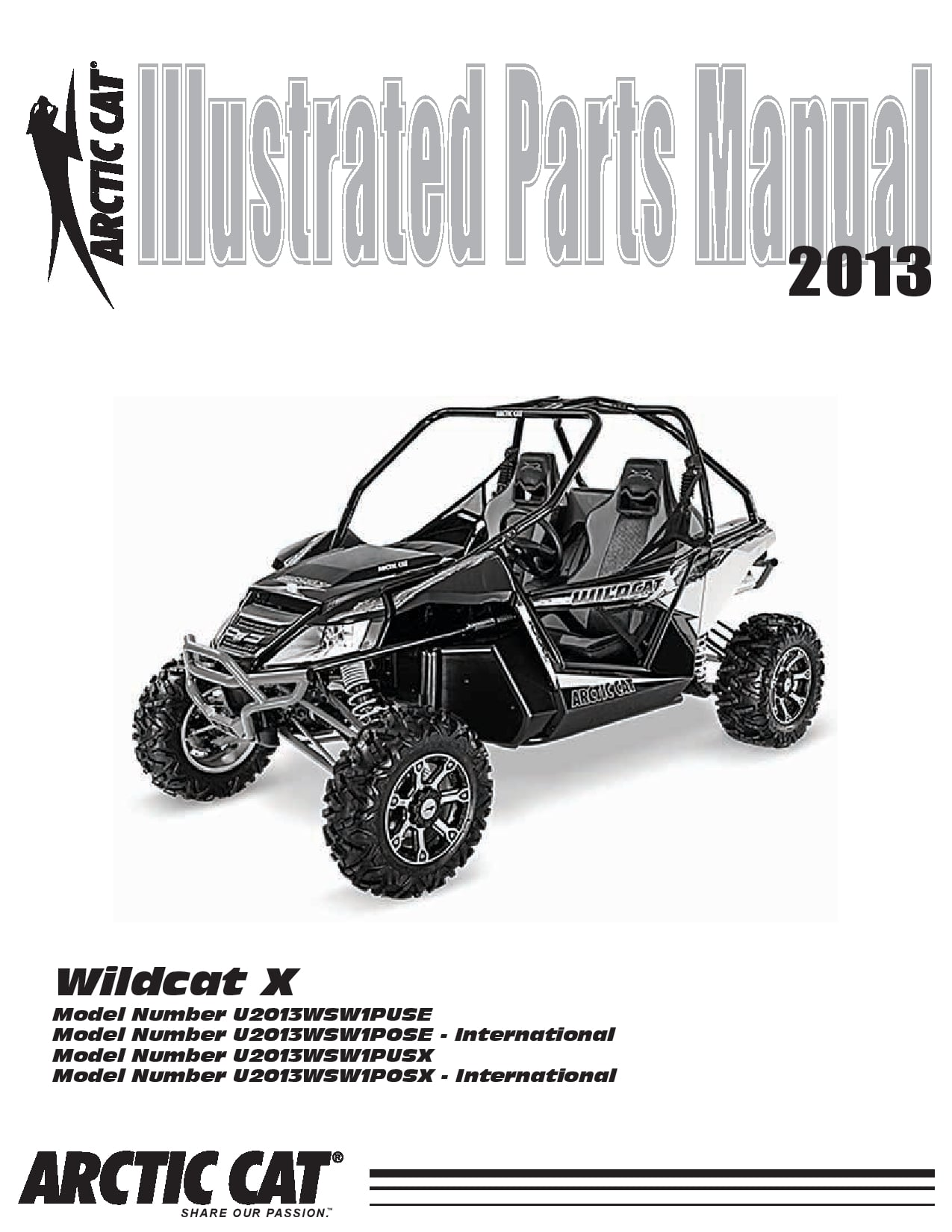 ARCTIC CAT 2013 Wildcat X part manual PDF Download