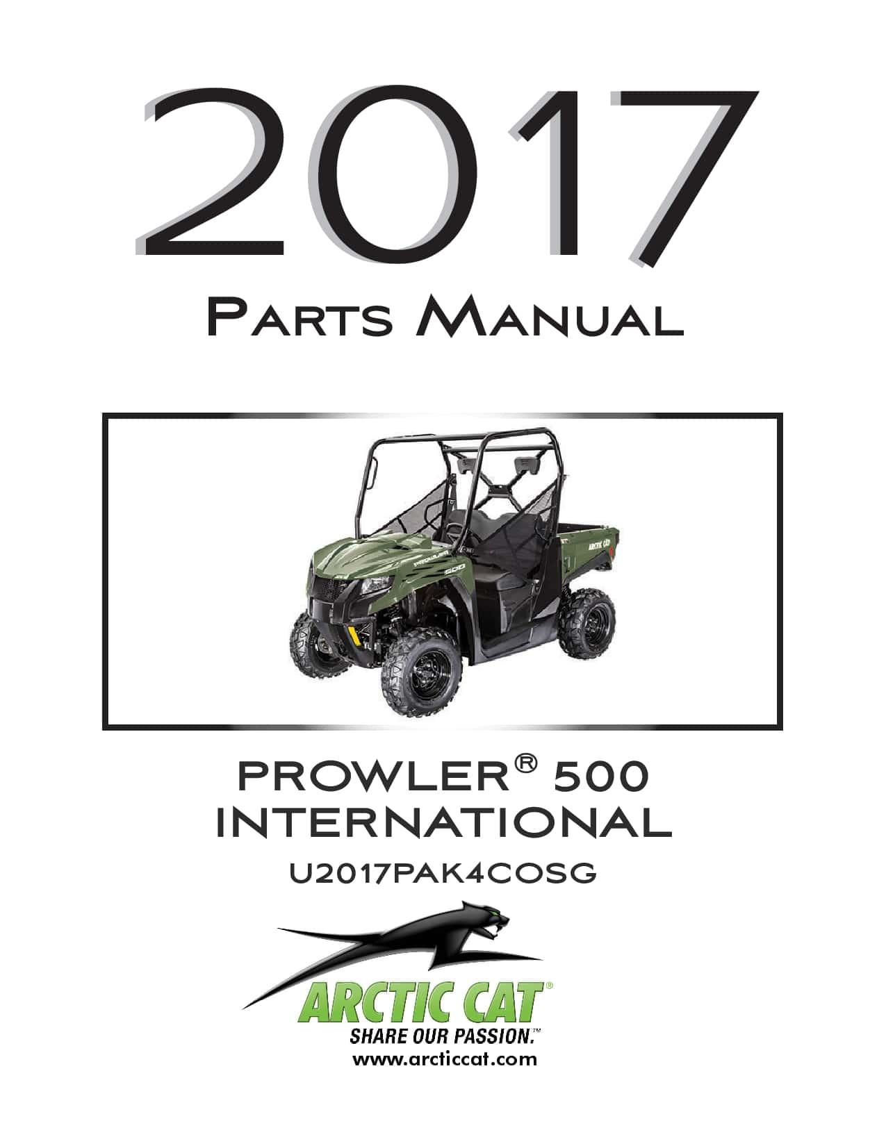 ARCTIC CAT 2017 500 Prowler international green part