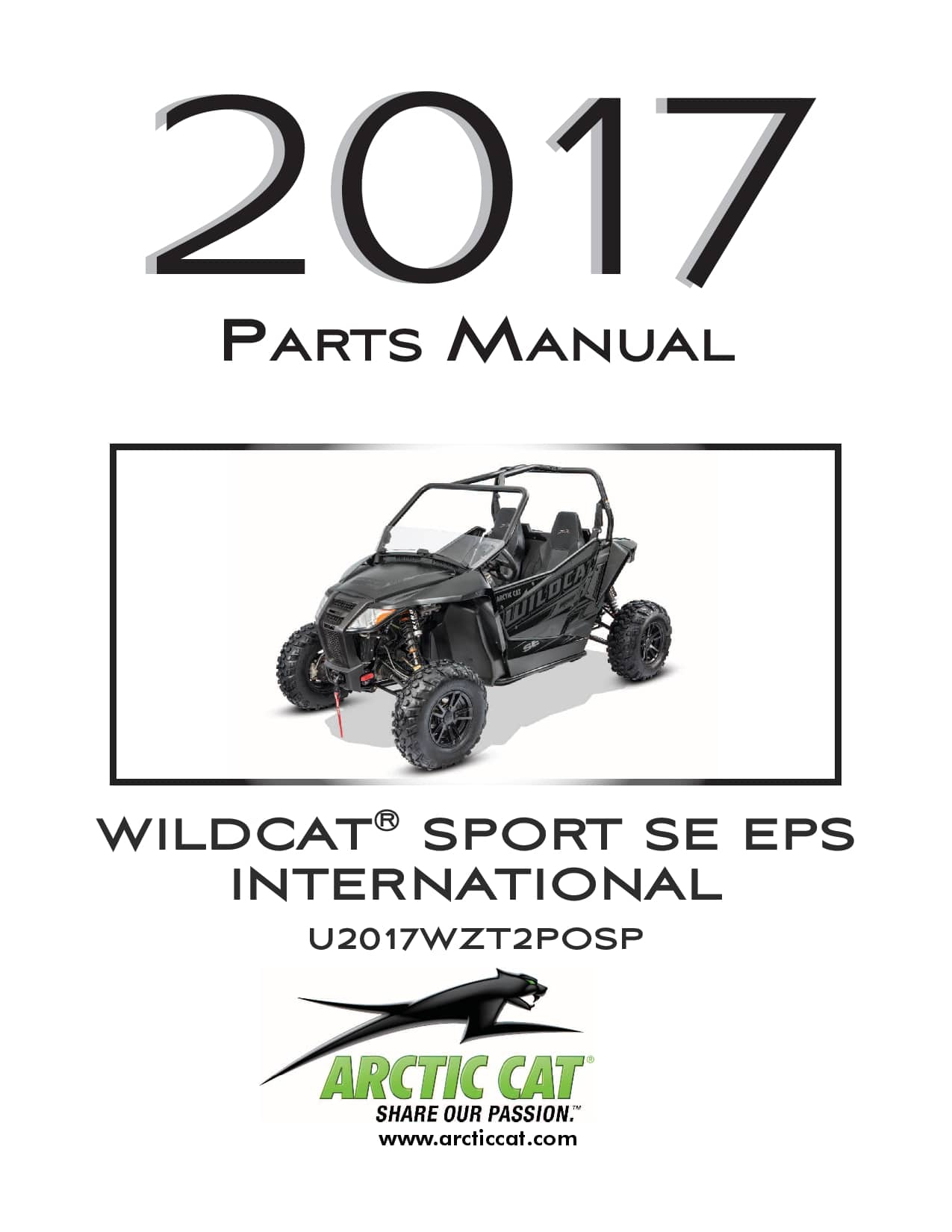 ARCTIC CAT 2017 Wildcat Sport SE EPS international black