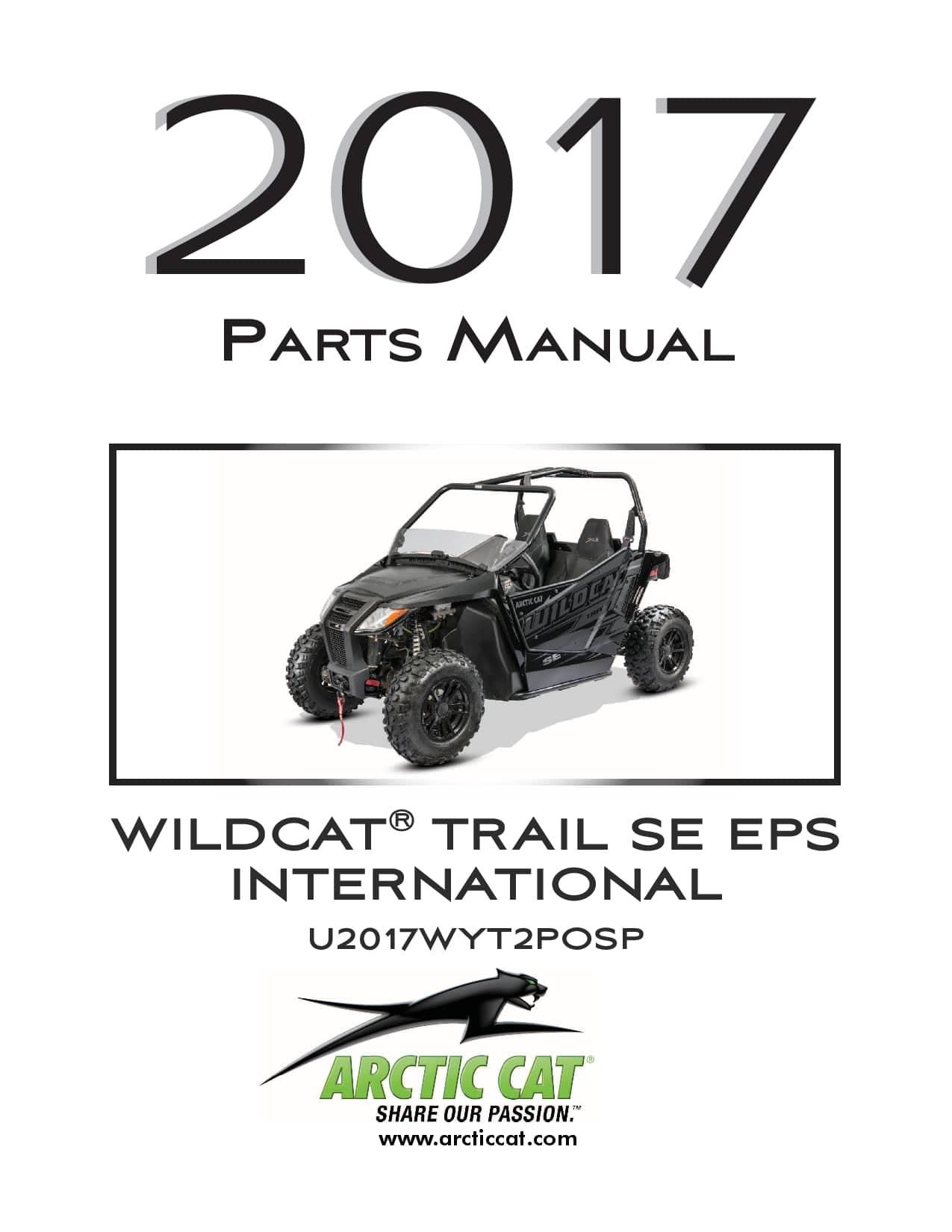 ARCTIC CAT 2017 Wildcat Trail SE EPS international black