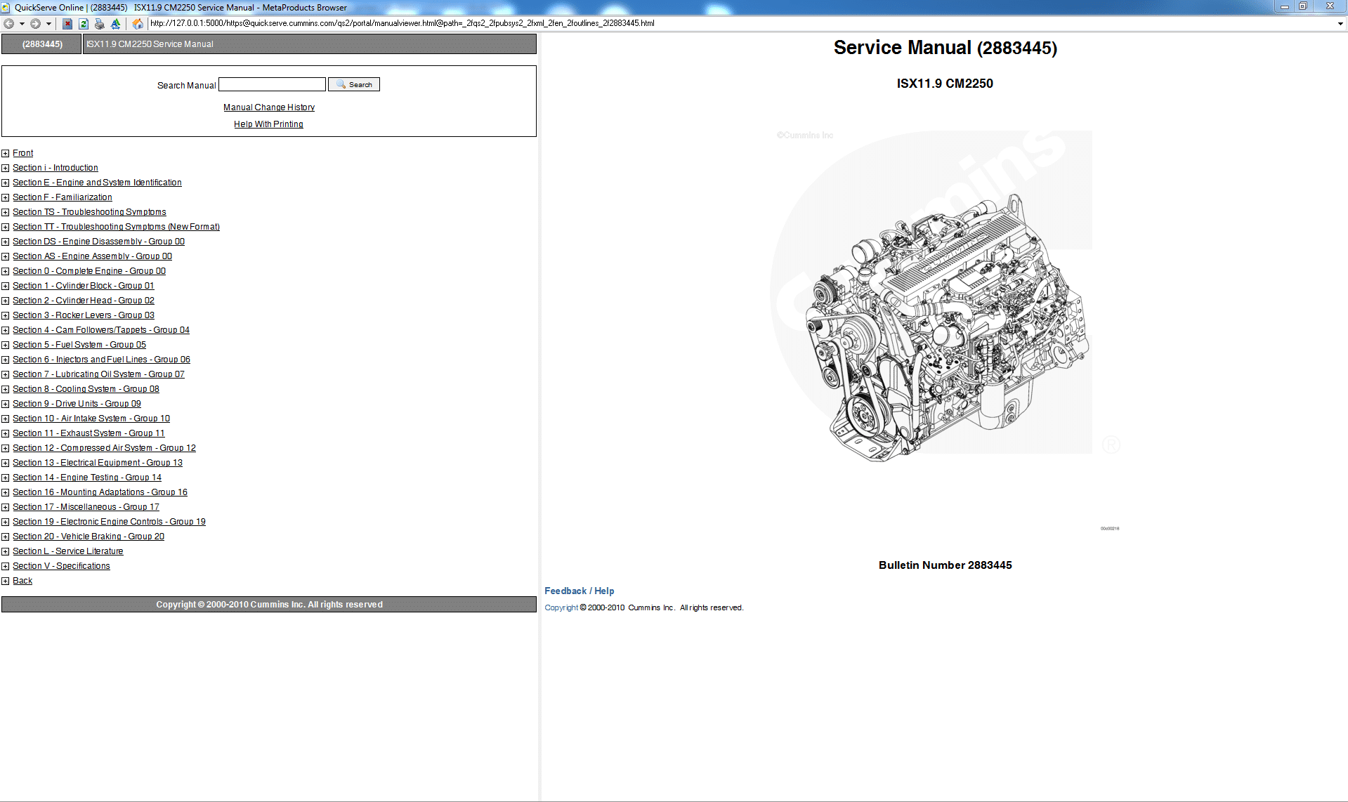 Cummins ISX 11.9 CM2250 Service Manual PDF Download