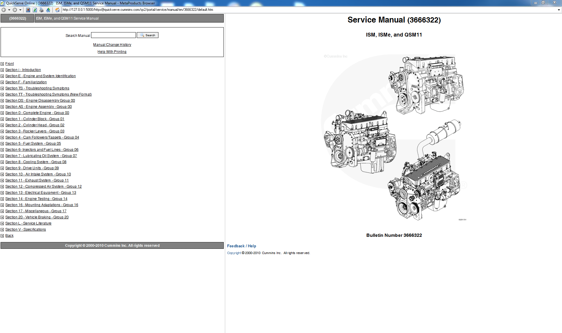 Cummins ISM ISMe and QSM11 Service Manual PDF Download
