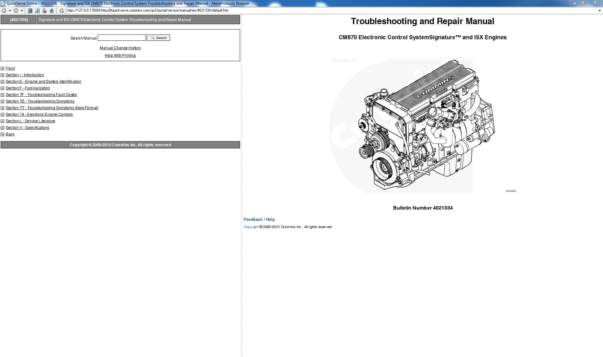 Cummins Repair Manual Free Download