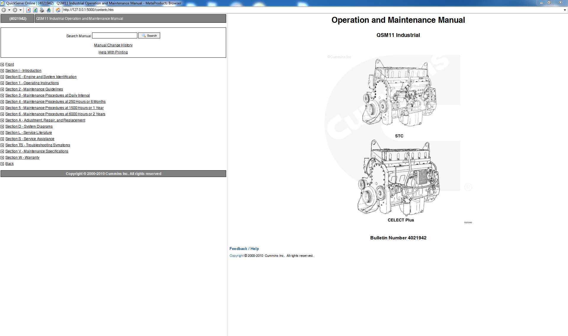 Cummins Operation and Maintence Manual QSM11 Engine PDF